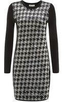MICHAEL Michael Kors Knitted Sequin Houndstooth Dress - Lyst