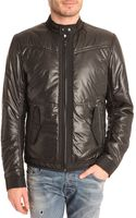 Diesel Jmalkia Black Nylon Padded Jacket - Lyst