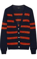 Suno Striped Pima Cotton Cardigan - Lyst