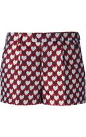RED Valentino Heart Print Shorts - Lyst