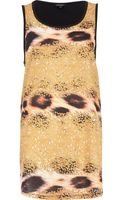 River Island Yellow Sequin Animal Print Tank Top - Lyst