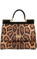 Dolce & Gabbana Medium Sicily Crespo Leather Top Handle - Lyst