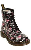 Dr. Martens 30MM Floral Printed Core Leather Boots - Lyst