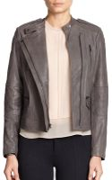 Vince Leather Quilted Moto Jacket - Lyst