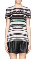 Diane Von Furstenberg Tori Stripe Print Sequin Tshirt - Lyst