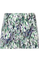 Stella McCartney Printed Silkcrepe Shorts - Lyst