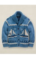RRL Hand-knit Nautical Cardigan - Lyst
