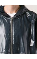 T By Alexander Wang Laminated Cropped Hoodie - Lyst