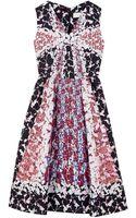 Peter Pilotto Silk Mixed Print Dress - Lyst