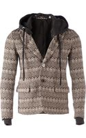 Slide Slope Zig Zag Hooded Jacket - Lyst