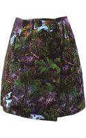 Carven Printed Full Skirt - Lyst