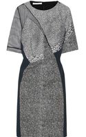 Antonio Berardi Paneled Woven Dress - Lyst