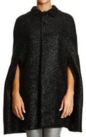 Saint Laurent Coat Cape Cloth with Lurex - Lyst