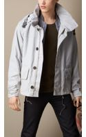 Burberry Funnel Neck Boxfit Jacket - Lyst