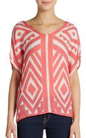 Milly Silk Dolman Top - Lyst