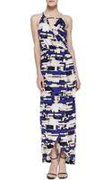 Parker Hillington Printed Halter Maxi Dress - Lyst