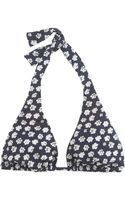 J.Crew Blurred Floral Triangle Halter Top - Lyst