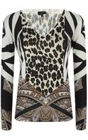 Etro Paisley Leopard Print Sweater - Lyst