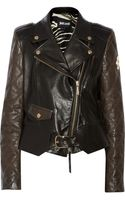 Just Cavalli Quilted Leather Biker Jacket - Lyst