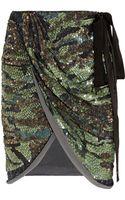 Isabel Marant Elmira Sequined Silk-georgette Mini Wrap Skirt - Lyst