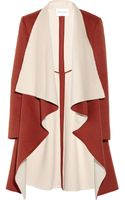 Vionnet Twotone Wool and Angorablend Coat - Lyst