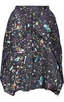 Suno Printed Silktwill Skirt - Lyst