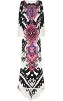 Emilio Pucci Printed Silkcady Maxi Dress - Lyst