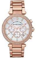 Michael Kors Parker Rose Goldtone Stainless Steel Watch - Lyst