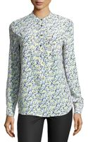 Equipment Ava Floralprint Washed Silk Blouse - Lyst
