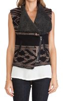 Twelfth Street Cynthia Vincent Faux Shearling Lined Sweater Vest - Lyst