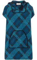 Calla Turquoise Blue Tweed Baja Dress - Lyst