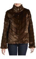 Ellen Tracy Faux Fur Blouson Jacket - Lyst