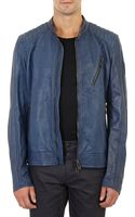 Belstaff Lightweight Tumbled Leather Moto Jacket - Lyst