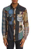 Denim & Supply Ralph Lauren Ward Patchwork Shirt - Lyst