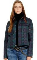 Polo Ralph Lauren Leather Trim Tartan Jacket - Lyst