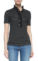 Tory Burch Brigitte Cotton Short Sleeve Polo - Lyst