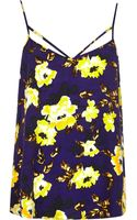 River Island Purple Floral Print Strappy Cami Top - Lyst