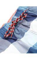 Tommy Hilfiger Bay Check Navy Blue Swim Shorts - Lyst