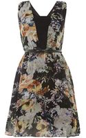 Little Mistress Floral Fit and Flare Dress - Lyst