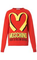 Moschino Logoprint Wool Cashmereblend Sweater - Lyst