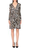 Diane Von Furstenberg T72 Floral-print Silk Wrap Dress - Lyst