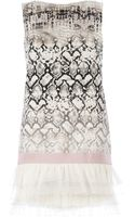 Giambattista Valli Snake Skin Print Dress - Lyst