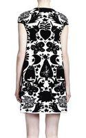 Alexander McQueen Fairytale Intarsia Capsleeve Dress - Lyst