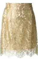Dolce & Gabbana Lace Skirt - Lyst