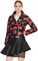 MSGM Lip Printed Nappa Leather Leather Jacket - Lyst