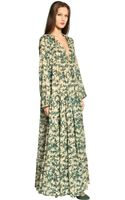 Yvonne S Poplin Cotton Floral Long Dress - Lyst