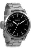 Nixon Chronicle Sterling Silver Watch - Lyst