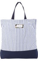 Vanities Stripe Seersucker Tote - Lyst