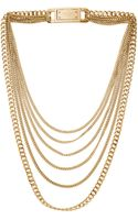 Michael Kors Multistrand Chainlink Necklace Golden - Lyst