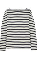 T By Alexander Wang Striped Cottonterry Top - Lyst